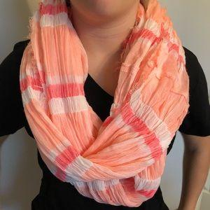Bright, gauzy infinity scarf